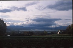 (✞bens▲n) Tags: pentax lx provia 100f fa 43mm f19 limited film analogue slide japan nagano landscape fields sky clouds