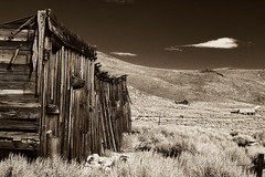 Crusty Side of House at Bodie Ghost Town in B&W (eoscatchlight) Tags: bodieghosttown easterncalifornia california ghosttown abandoned topaz
