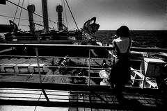memories 50204 (soyokazeojisan) Tags: memories 昭和 1970s 1974 bw sea sky ship blackandwhite people monochrome analog olympus m1 om1 21mm film d76 minicopy fujifilm