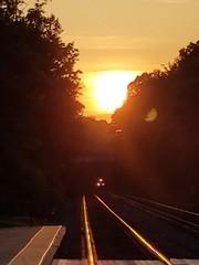 golden sunset (d1pinklady) Tags: train sunset sun golden railroad railways tracks