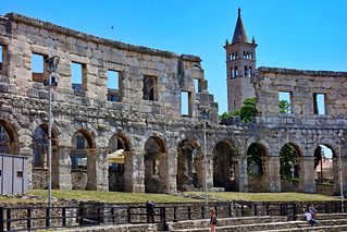 Pula: Roman Arena and St Anthony belltower