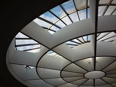 Pinakothek der Moderne (1b) (SM Tham) Tags: europe germany munich pinakothekdermoderne artgallery museum architecture stephanbraunfels building atrium rotunda skylight sky circles interior