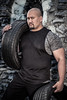 Tiredness (neal1973) Tags: muscles male stone outdoors portrait tyres tyre feizal bodybuilder muscle man model