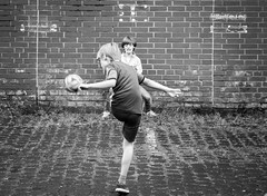 Lets go worldcub 2018 (ThorstenKoch) Tags: worldcub 2018 kids street streetphotography stadt strasse schwarzweiss football wall outdoor fun blackwhite bnw fuji fujifilm thorstenkoch pov photography people pattern düsseldorf duesseldorf germany monochrome thursday throwback city candit weltmeister