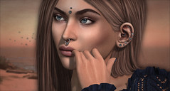 """""""...keep on trying..."""" (_Michelle Halster_) Tags: swallow princess portrait close up closeup secondlife second life sl ears jewellery"""