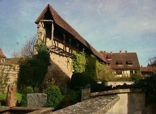 GERMANY, Rund um das Kloster Bebenhausen, Mauerrreste am Friedhof, 76240/10164