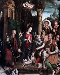 IMG_4002O Simon de Chalons actif à Avignon de 1532 à 1562. Adoration des bergers . Adoration of the Shepherds 1548 Avignon Musée Calvet. (jean louis mazieres) Tags: peintres peintures painting musée museum museo france avignon muséecalvet simondechalons