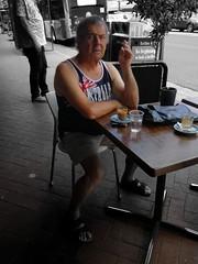 Aussie Summer (RP Major) Tags: street people streetscape australia victoria cafe man table coffee aussie