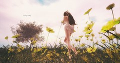 Sometimes the easiest thing in the world, sometimes the most difficult & courageous:  B R E A T H E. (kimmyridley) Tags: secondlife maitreya monso addams butterflybeach landscapes explore destination unwind breath butterfly flowerpower relax beauty exploringvirtualworlds avatarlife