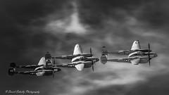 Dark and Stormy Night (dschultz742) Tags: 05062018 airplane d810 pof planesoffame aircraft nikon nikonsigma outdoor sigma vehicle lockheedp38lightningblackandwhite bw monochrome