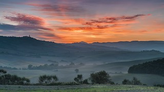 *Dawn in Val d'Orcia*
