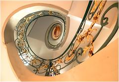 Helix (kurtwolf303) Tags: helix wendeltreppe spirale spiralstaircase staircase olympusem1 omd microfourthirds micro43 kurtwolf303 mft berlin germany deutschland treppe architektur architecture innenaufnahme mirrorlesscamera stairway