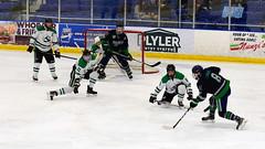 One last SRU 2018 action shot... (R.A. Killmer) Tags: sru ice hockey shot block goalie skate stick puck acha slippery rock university mercyhurst playoff game