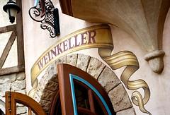 Weinkeller, Disney World, FL, 2014 (Tom Powell) Tags: disneyworld epcot worldshowcase germanypavilion 2014 leicam6 summicronm35mmf2asph film colornegative kodakportra400 texture