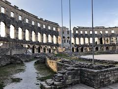 Stairs (aiva.) Tags: croatia istria pula hrvatska istra balkan coliseum arena amphitheater jadran adriatic sunset ruins antic architecture
