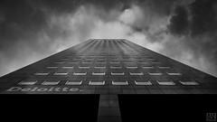Leeuwarden -tower- (MAICN) Tags: 2018 lines architektur building leeuwarden windows himmel turm mono front linien sw geometrisch clouds hochhaus geometry bw skyscraper blackwhite monochrome fassade tower schwarzweis fenster sky architecture einfarbig vhs wolken gebäude