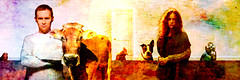American Homeland 2018 (RJ.Take2) Tags: richardjones digitalart hamster man cow rooster dog woman owl wall closeddoor best interpretation transcendent spiritual beautiful classic livingthedream art fineart photoart layered composite composited grunge impressionist abstract gallery collection artineed life people time ego cedarpark texas usa