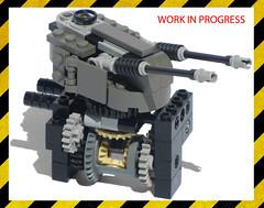 Geared Turret WIP (Ɍaillery) Tags: lego wip work in progess turret gear gearing geared elevation rotation playability jackal ground control tank light terradyne crayven clutch mechanism