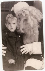 creepy Santa picture (rfulton) Tags: foundpictures foundphotos children vintagekids vintage found