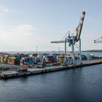 Cranes and containers thumbnail