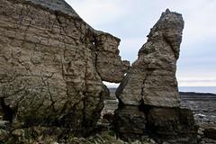 Coupe des Hachettes à Ste-Honorine-des-Pertes, Calvados, Normandie (Christian Giusti) Tags: géologie geology géomorphologie geomorphology géographie geography paysage seascape patrimoinenaturel naturalheritage bajocien bajocian stratigraphic stratigraphy falaise cliff faille fault lignedefaille faultline