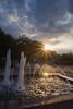 DSC07489 (alexkovalev07) Tags: нальчик закат июнь лето вечер небо облака город фонтан памятник