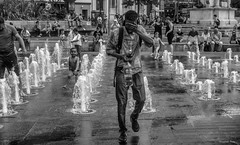 "Manchester ""Piccadilly Gardens UK"". (Pensioner Percy) Tags: manchester gardens piccadillygardens rx100m3 sony fountain water people northwestengland silverefexpro gin faces enjoyment street children niksoftware dxosoftware acdseeultimate2018 acdsee adobephotoshopelements monochrome blackandwhite pensionerpercy"