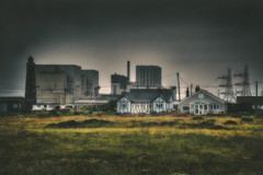 Cottages And Reactors (nigdawphotography) Tags: cottages homes powerstation nuclearpower reactor dungeness kent