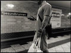 Proto & Stereo (.Dirk) Tags: berlin olympusepm1 mzuiko1718 street people metro ubahn prime mft m34 bnw bw sw hunk gesundbrunnen