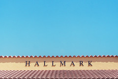 Hallmark (Ashley Watts) Tags: film analogue 35mm 50mm colour color lomo lomography 400 negative first time hallmark blue sky tiles building simple simplicity summer florida us usa america soflo miami delray roof clear clean happy olympus om1 ilovefilm filmisnotdead architecture