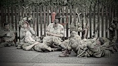 Recovering from the night before? (Gidzy) Tags: army military weapons fighting war worldwar ww2 wwii worldwartwo vehicles camo camoflague dadsarmy homeguard vintage retro 1940s weekend summer tourist tourism rammy ramsbottom lancashire bury manchester greatermanchester