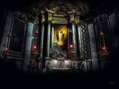 Inner Sanctum (lloydboy52) Tags: innersanctum church altar ladyaltar eglisesaintsulpice stsulpice paris france 6tharrondissement dark mysterious architecture europe europa baroque