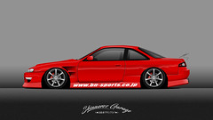 Nissan S14 Kouki Bn Sports (Christian Venelinov) Tags: vector art nissan kit automotive cars auto rims photoshop