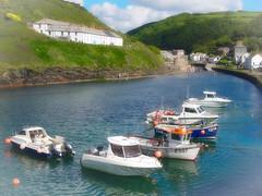 Boscastle Harbour (mpb_17) Tags: harbour vehicle boat