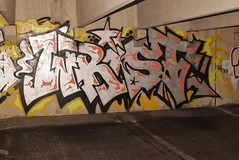 WRIST (TheGraffitiHunters) Tags: graffiti graff spray paint street art colorful nj new jersey bando abandoned building parking garage wrist