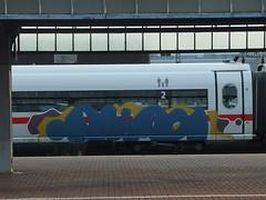 ALIAS (mkorsakov) Tags: dortmund hbf bahnhof mainstation zug train ice intercityexpress graffiti piece bunt colored unfertig alias