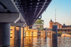 Stadsbrug en station Kampen (Gerrit Veldman) Tags: dutch holland ijssel kampen nederland netherlands overijssel stadsbrug bridge brug river rivier stationkampen water olympus epl7