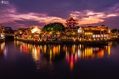 The River Sunset at Shan Tang Jie in Suzhou, China on June 2nd, 2018 (HunterBliss) Tags: ancient architecture asia asian beautiful blue bridge building business canal china chinese city colorful culture decoration downtown famous history hour house jiangsu landmark landscape lifestyle light lights night old oriental outdoor reflection river scenery scenic shan sky street structure suzhou symbol tong tourism town traditional travel urban view water wood