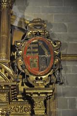 Astorga (León-España). Catedral. Capilla de la Inmaculada. Retablo de 1627 obra de Francisco Ruiz. Escudo (santi abella) Tags: astorga león castillayleón españa catedraldeastorga heráldica escudos retablos