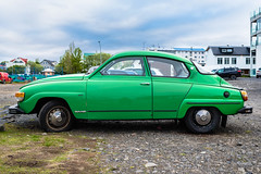 Saab 96 (Þorkell) Tags: iceland nikond750 automobile saab bílar classiccars car nikkorafs35mmf14g cars green reykjavík saab96 bíll classiccar