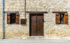 The Vernacular (George Plakides) Tags: door window wooden vernacular architecture stone masonry construction lofou village