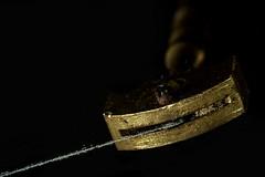 Glass Cutter (Mark Wasteney) Tags: macromondays handtool glasscutter brass metal cutter macro dof line score pov glass lowkey