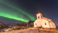 Sildpollnes Church (Stefan Giese) Tags: d750 norwegen norway lofoten kirche church sildpollnes nordlicht auroraborealis polarlicht northernlights tamron 1530 nikon