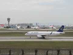 Air Astana Airbus A320-200 (Armenian_Spotter) Tags: airlines airways landing arrival astana flight flag carrier эйр астана kazakhstan airbus a320 ataturk airport istanbul flughafen avia aviation control tower
