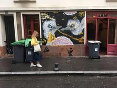 Chez gladines à la butte aux cailles (NaÖH) Tags: naöh paris13 butteauxcailles wallpaint wallart painting paint bird autruche ostrich