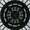 Center of the glass roof of the Grand Palais - squared circle (Monceau) Tags: center glass roof ceiling metal lookingup grandpalais paris squaredcircle squircle monochrome blackandwhite