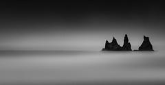 Stacked (TS446Photo) Tags: longexposure monochrome iceland seascape fineart tones horizon black white grey rock graphite beach shore pano