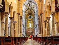 Duomo di Cefalù (werner boehm *) Tags: wernerboehm cefalu italy architecture interior duomodicefalù sicily kirche church