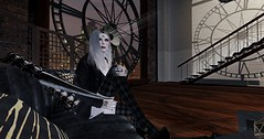 Home Alone (Lycilla Aka Maggie Werefox) Tags: quotes secondlife kunst ncore moonhair backdropcity werefashion blog blogger beautiful beauty black bento avatar makeup maitreya musthave style styling stunning shopping shop sexy summer stylist virtual game games 3d seducing smoke ikon dream dark design designer darkness demon pose poses glamaffair