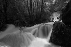 Verneau en Cru avec  vue sur la Grande Cascade - Nans Sous Sainte Anne (francky25) Tags: verneau en cru avec vue sur la grande cascade nans sous sainte anne franchecomté doubs noir et blanc